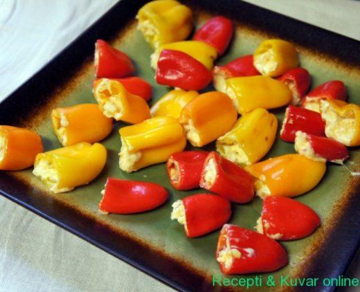 Paprike sa kajmakom i sirom - Recepti i Kuvar online