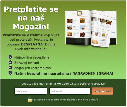 Pretplatite se na naš Magazin | Recepti & Kuvar Online - Šta da kuvam danas?