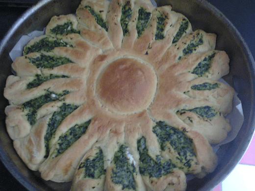 Sunce pita sa spanaćem - Marija Mirković - Recepti i Kuvar online