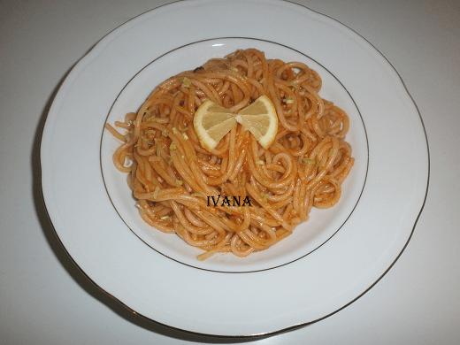 Špagete sa limunom - Ivana Pešić - Recepti i Kuvar online