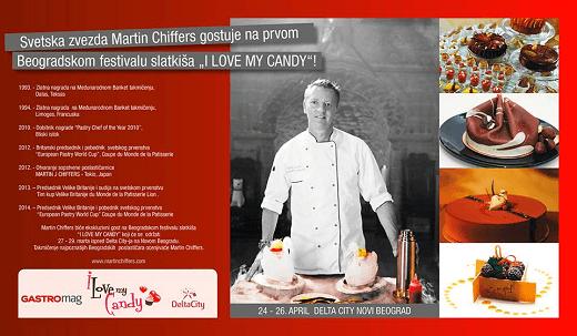"Svetska zvezda Martin Chiffers gostuje na prvom Beogradskom festivalu slatkiša ""I LOVE MY CANDY""! | Recepti & Kuvar Online - Šta da kuvam danas?"