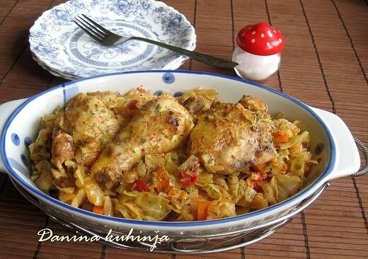 Piletina i slatki kupus iz kese za pečenje - Dana Drobnjak - Recepti i Kuvar online