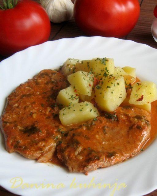 Šnicle u sosu iz rerne - Dana Drobnjak - Recepti i Kuvar online