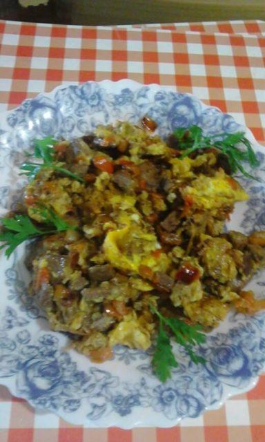 Džigerica sa povrćem i jajima - Tatjana Stojanović
