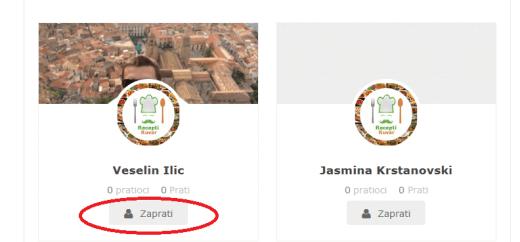 Zajednica registrovanih korisnika - Recepti i Kuvar online