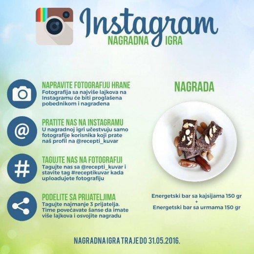 Recepti i Kuvar online na Instagramu - poklon za najbolju fotografiju hrane