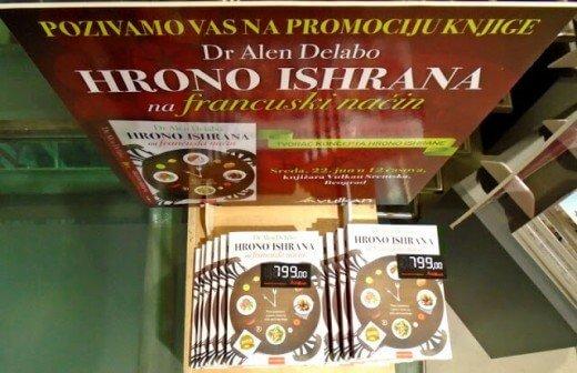 Knjiga Hrono ishrana na francuski način - poklon za najbolji recept meseca jula