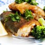 photodune 9339665 prepared trout with broccoli garnish xs
