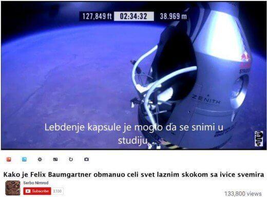 Feliks Baumagartner obmanuo je ceo svet - Zoran Modli - Recepti i Kuvar online