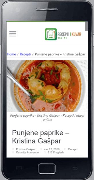 Najbolji recepti na vašem mobilnom telefonu - Android aplikacija - Recepti i Kuvar online app