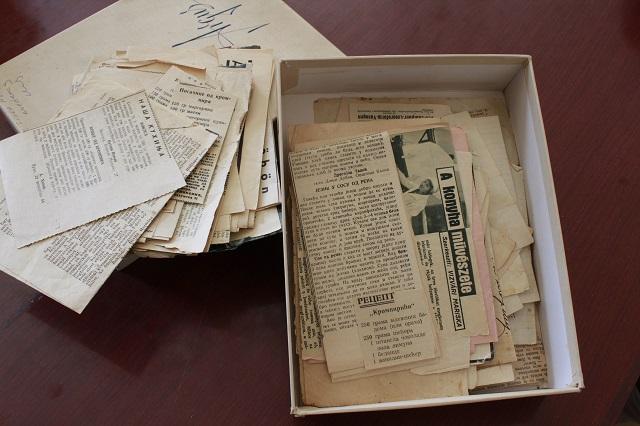 Stari recepti isecani iz novina - u vlasništvu Narodnog muzeja u Zrenjaninu
