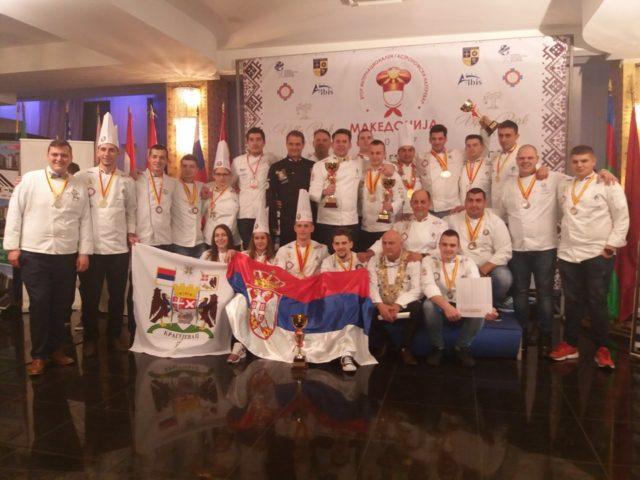 Kulinarski tim Srbije na 2. internacionalnom takmičenju kulinara u Makedoniji osvojio najznačajnije nagrade