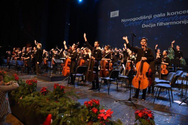 Dečja filharmonija održala svoj tradicionalani novogodišnji gala koncert