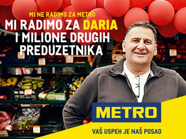 Metro globalna brend kampanja: Mi ne radimo za METRO, mi radimo za milione samostalnih preduzetnika širom sveta