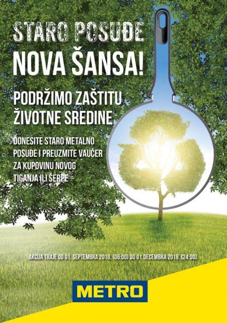 Staro posuđe - nova šansa - akcija Metro Cash & Carry Srbija