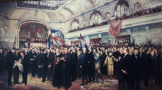 Foto 3 - Velika narodna skupština u Novom Sadu - delo slikara Anastasa Bocarića - Zbirka Muzeja Vojvodine