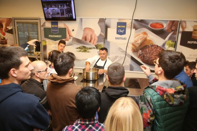 Vrhunski italijanski šef, Eros Piko, u HORECA centru u okviru Nedelje italijanske kuhinje
