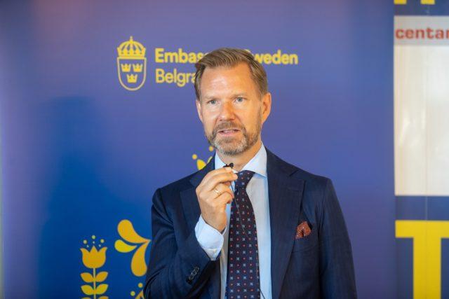 Juakim Vern zamenik ambasadora Švedske - photo Ambasada Švedske, D. Radulović