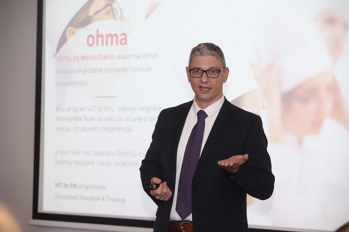 Uroš Urošević, CEO, U Beogradu najavljeno otvaranje najprestižnije škole za hotelijerstvo i ugostiteljstvo na svetu - ohma by winsedswiss