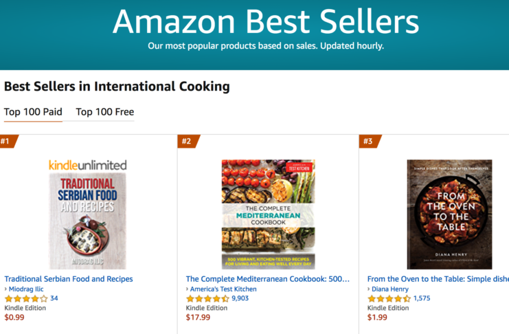 Amazon Best Sellers #1 - knjiga Tradicionalni recepti domaće srpske kuhinje / Traditional Serbian food and recipes