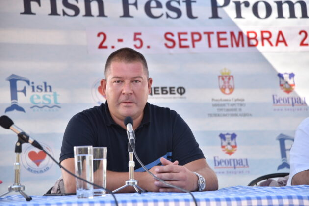 Đorđe Živanović, Fish Fest 2021 konferencija za medije, fotograf Belkisa Beka Abdulović
